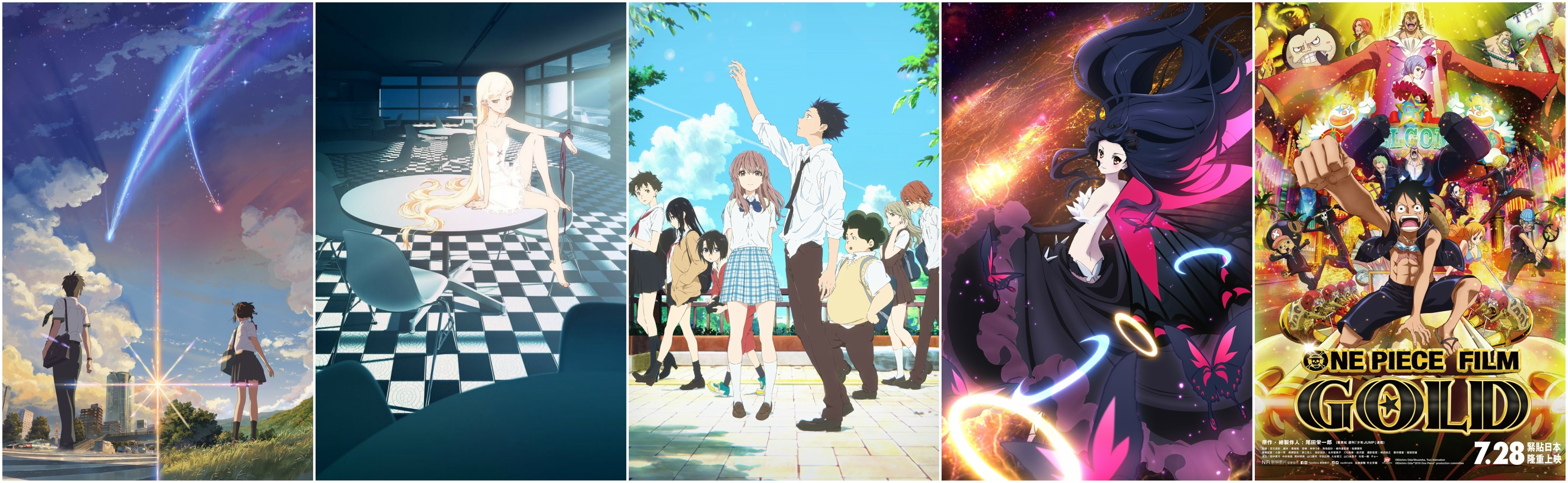 Top 5 summer 2016 anime blockbusters